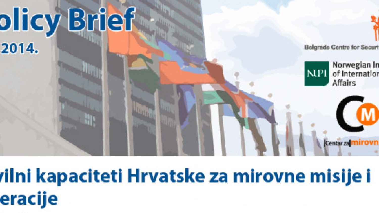 Civilni kapaciteti Hrvatske za mirovne misije i operacije